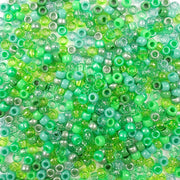 6 x 9mm plastic pony beads in light green colors