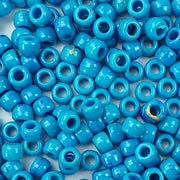 western turquoise 6 x 9mm plastic pony beads in bulk