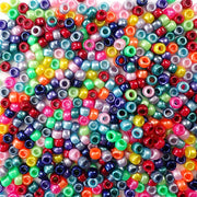 Ultimate Rainbow Pearl Multicolor Mix Plastic Pony Beads 6 x 9mm, 500 beads