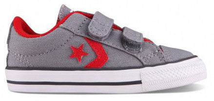 6302b2f84865d5 Converse 747756 Star Player Velcro Ox for Infants - Grey Red – Hoboken