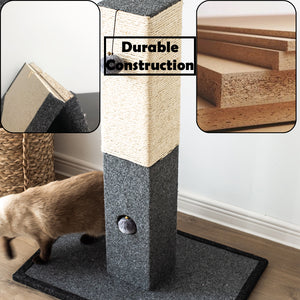 Catry Cat Tree Cat Scratching Post with Natural Rope-CT19611