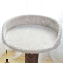 Load image into Gallery viewer, Catry, Cat Tree Hammock Bed with Natural Sisal Scratching Posts and Teasing Feather for Kitten (Version 2)