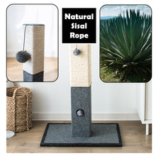 Load image into Gallery viewer, Catry Cat Tree Cat Scratching Post with Natural Rope-CT19611