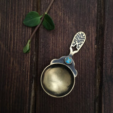 Load image into Gallery viewer, Persian home decor- Decorative Handmade Brass Spoon with Persian Turquoise