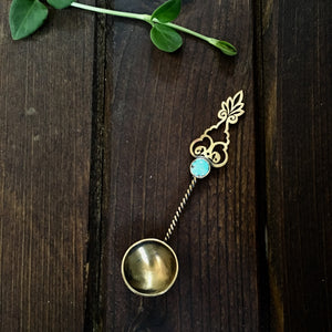 Persian Home decor-Decorative Handmade Dainty Brass Spoon