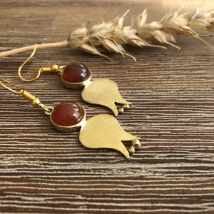 Persian Earrings-Persian Pomegranate Shaped Earrings-: Persian Jewelry-Afra Art Gallery