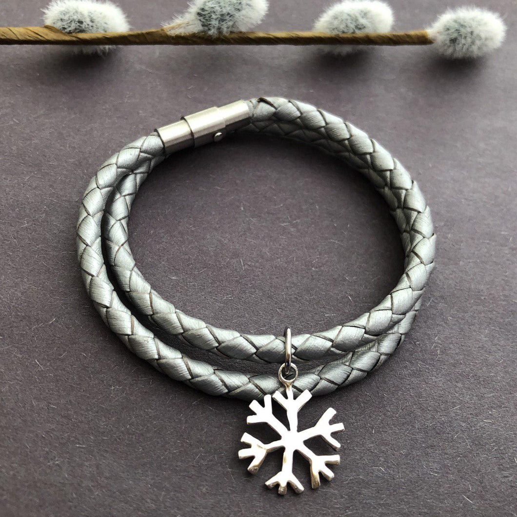 Persian Bracelets -Handmade Persian Bracelet with Snow Crystal Charm:Persian Jewelry-Afra Art Gallery