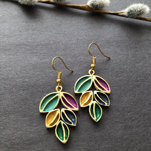 Load image into Gallery viewer, Persian Earrings-Handmade Colorful Dangle Earrings-: Persian Jewelry-Afra Art Gallery