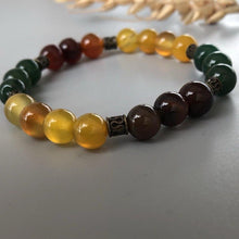 Load image into Gallery viewer, Stretch Bracelet with Natural Colorful Agates