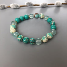 Load image into Gallery viewer, Handmade Beaded Cuff Bracelets with Turquoise