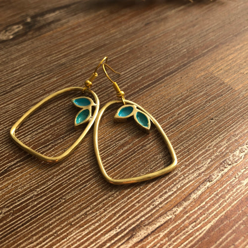 Persian Earrings-Persian Handmade Brass Earrings-: Persian Jewelry-Afra Art Gallery