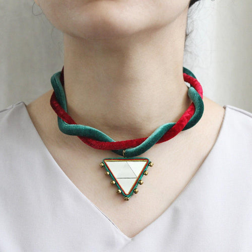 Persian Necklace-Persian Mirror Mosaic Choker:Persian Jewelry