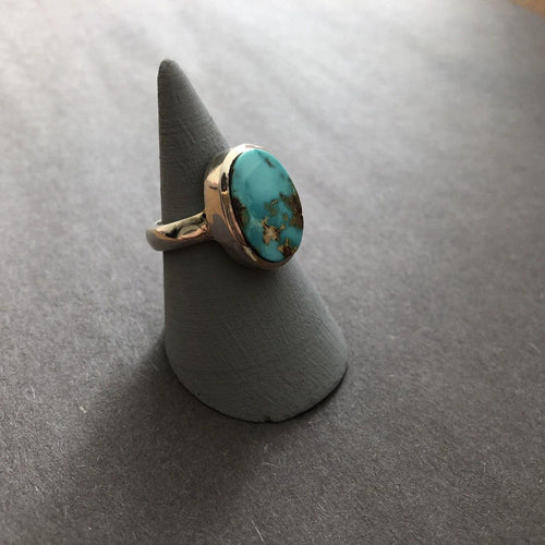 Persian Rings-Persian Turquoise Ring: Persian Jewelry-Afra Art Gallery