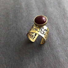 Load image into Gallery viewer, Persian Rings-Iranian Aqeeq Ring: Persian Jewelry-Afra Art Gallery