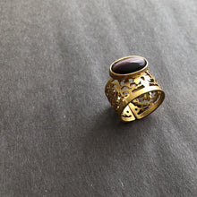 Load image into Gallery viewer, Persian Rings-Handmade Persian Ring with Gemstone: Persian Jewelry-Afra Art Gallery
