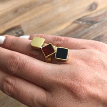 Load image into Gallery viewer, Persian Rings-Handmade Brass and Gemstone Ring: Persian Jewelry-Afra Art Gallery