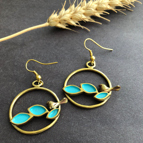 Persian Earrings-Persian Handmade Brass Dangle Earrings-: Persian Jewelry-Afra Art Gallery