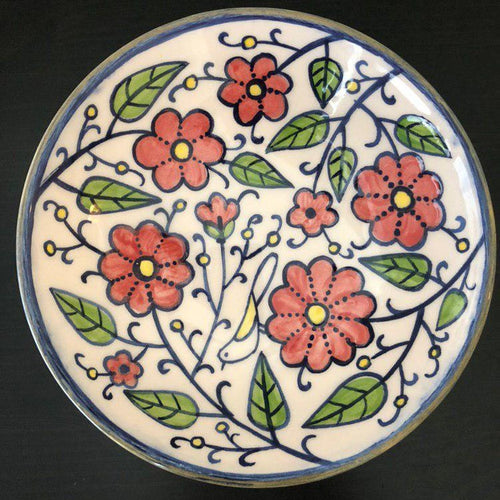Decorative Hand painted Ceramic Shallow Bowl