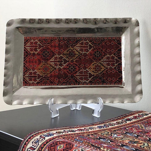 Copper Tray with Geometric Persian Design