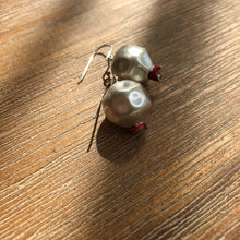 Load image into Gallery viewer, Persian Earrings-Handmade Persian Pomegranate Silver Earrings-: Persian Jewelry-Afra Art Gallery