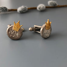 Load image into Gallery viewer, Soltan Silver Cufflinks With Crown