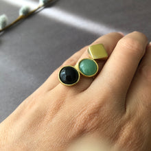 Load image into Gallery viewer, Persian Gift-Handmade Brass and Gemstone Ring:Persian Jewelry-Afra Art Gallery