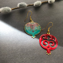 Load image into Gallery viewer, Persian Earrings-Pomegranate Shaped Persian Earrings-: Persian Jewelry-Afra Art Gallery