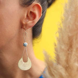 Persian Earrings-Handmade Staylish Minimal Silver Earrings:Persian Jewelry-Afra Art Gallery