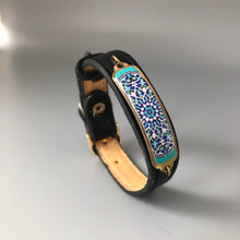 Load image into Gallery viewer, Persian Handmade Bracelet with Geometric Pattern in Blue