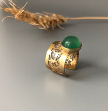 Load image into Gallery viewer, Persian Gift-Handmade Persian Ring with Gemstone:Persian Jewelry-Afra Art Gallery