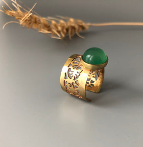 Persian Gift-Handmade Persian Ring with Gemstone:Persian Jewelry-Afra Art Gallery