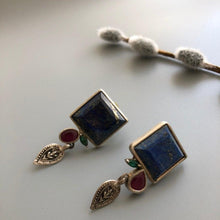 Load image into Gallery viewer, Persian Earrings-Handmade Silver and Gemstone Earrings-: Persian Jewelry-Afra Art Gallery