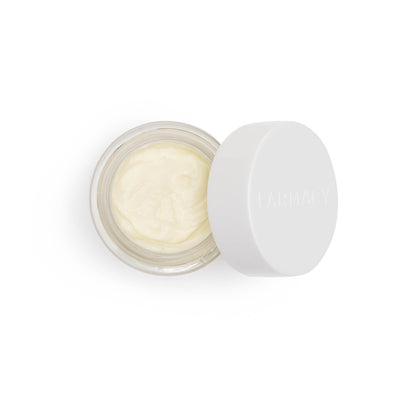 aerial view of moisturizer with cap off