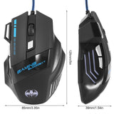 LED Optical USB Wired Computer Mouse