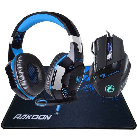 5500 DPI X7 Pro Gaming Mouse+ Hifi Pro Gaming Headphone Game Headset Big Gaming Mousepad