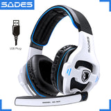 SADES SA-903 High-Performance 7.1 USB PC Gaming Headphones