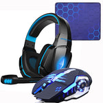 Gaming Headset Headphones + Wired Gaming Mouse + Gaming Mouse Pad
