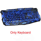 Tri-Color Backlight Computer Gaming Keyboard & Mouse