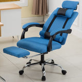Reclining Ergonomic Armchair For Gaming With Revolving Footrest & High Back