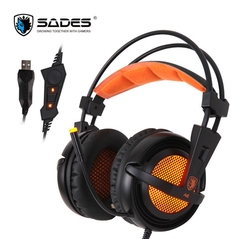 SADES A6 USB Gaming Headphones