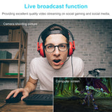 HD Webcam Built-in Dual Mics Smart 1080P Web Camera USB Pro Stream Camera for Desktop Laptops PC Game Cam For Mac OS Windows10/8