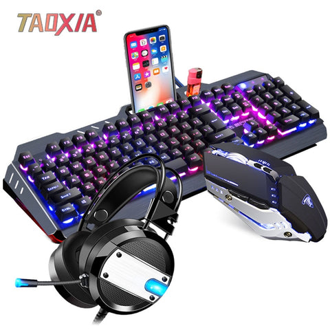 Mechanical Keyboard With Mouse & Headset