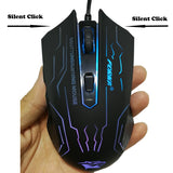 FORKA Silent Click USB Wired Gaming Mouse