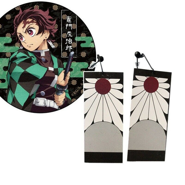 Demon Slayer Kimetsu no Yaiba Kamado Tanjirou Hanafuda Earrings