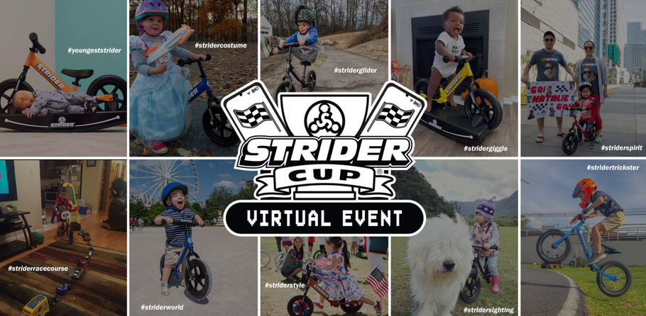 Little Rider Co partner with Strider Bikes to support the Virtual Strider Cup
