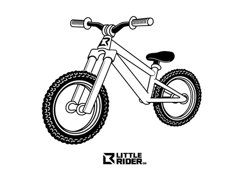 Little Rider Bike template colouring download