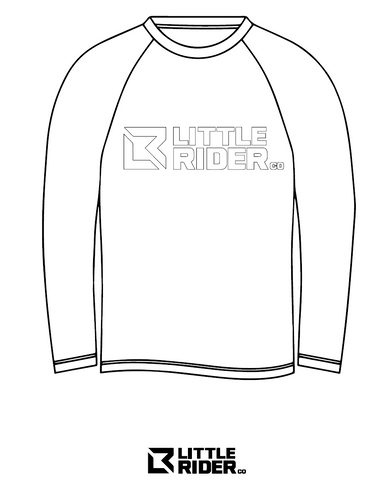 Little Rider Jersey colouring template