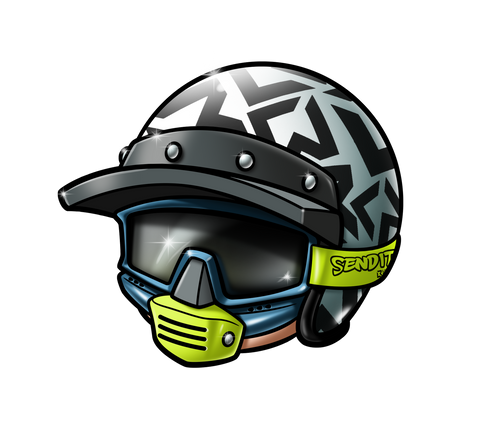 little rider helmet sticker