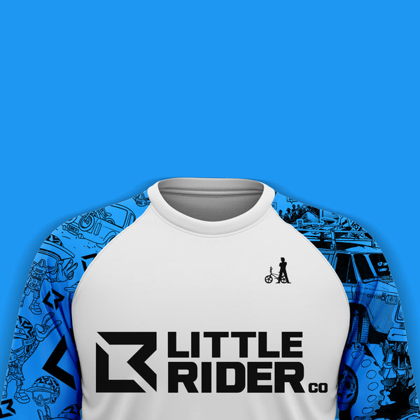 little rider Co Bob Haro Blue preview jersey