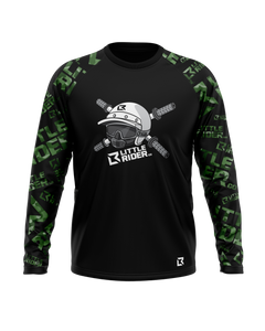 PRE-ORDER >> Little Rider Co 'Black & Green' Jersey - SQUAD Series